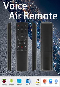 G20 Wireless Air Mouse Smart Google Voice Remotes Controls Gyroscope IR Learning Controller for TV Box Projectors HTPC Raspberry