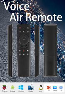 G20 Wireless Air Mouse Smart Google Voice Remotes Controls Gyroscope IR Controller di apprendimento per proiettori TV Box HTPC lampone