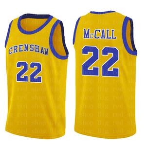 NCrenshaw High School de 22 Quincy McCall Filme College Basketball Jerseys Azul Branco Camisa de esporte Top Quality S-XXL