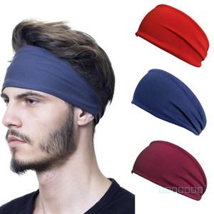 Donne Uomini Yoga sport sudore Hairband Solido Fascia Dei Capelli Della Fascia Bordo Largo avvolge Turbante Hairwraps ciclismo Sciarpa 2020 Accessori per capelli LY420