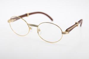 2020 Hot High-end occhio tondo Vintage Occhiali Ovale occhiali metallo caldo unisex 2.822.546 Legno Occhiali Uomini Occhiali da vista Frames Dimensione: 53-22-135 MM