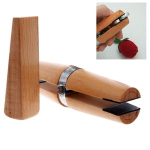 Cheap Jewelry Tools & Equipments Wood Ring Clamp Jewelers Holder Jewelry Making Hand Tool Benchwork Professional wood tweezers