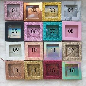 16 styles 3D Mink Eyelash Package Boxes False Eyelashes Packaging Empty Eyelash box Case Magnetic Lashes Box Makeup Tool 50 pcs DHL