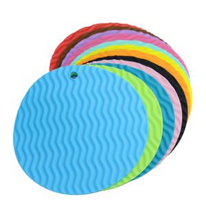 Круглые силиконовые держатели для горшков Многофункциональные кухонные принадлежности для нескользящей подставки для чашек Жаростойкие чжао