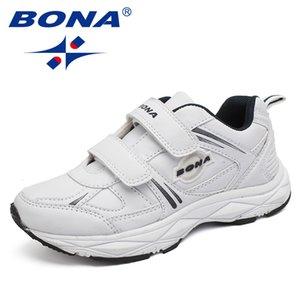 Bona nuovo stile popolare per bambini scarpe casual Hook Loop ragazzi sneakers scarpe da jogging all'aperto leggero morbido spedizione gratuita Y190525