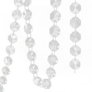 1M Teardrop Acrylic Crystal Beads Garland Chandelier Hanging Wedding Decoration Home Party Supplies