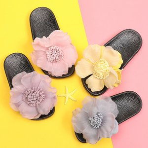 Fashion New Summer Children Big Flower Flip Flops Shoes Girls Shoes Princess Slipper Casual Shoes for Dress Size 24-35