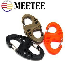 Meetee 8 S Shape Snap Hook Buckle mosquetones para llaves Clip mochila para acampar al aire libre Kits de suspensión de suspensión rápida AP244