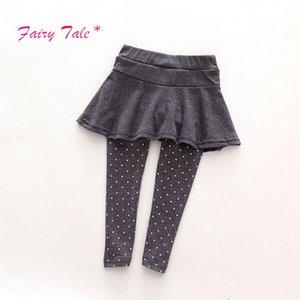 브랜드 아기 소녀 레깅스 스커트 - 바지 케이크 키즈 소녀 겨울 따뜻한 레깅스 Children 's Girls Skirt Pant Boot 2-7 Children