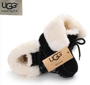 ALTA Qualidade bebê botas novas Sheep COSY Mulheres Austrália Estilo pele botas de neve CLASSIC FLUFF BOOT Inverno de couro genuíno botas de lã NEVE