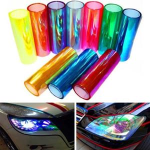Car Lamp Film Folha Farol Taillight adesivos de vinil Film etiqueta transparente 30 * 60CM Auto Styling farol de nevoeiro Luz Multicolor
