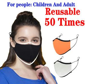 Yeniden kullanılabilir 50 Kez Gümüş İyon Toz Hava Karşıtı Kirliliği Karşıtı Sis Bulanık Yetişkin Yüz Maskeleri Aileniz 5 Adet Sağlığını Korumak Engelleme Maske