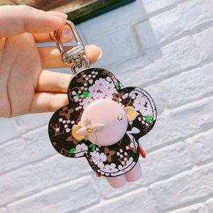 Luxury Pink Astronaut Keychain Designer Leder Roboter Steeless Stahl Schlüsselanhänger Schlüsselanhänger Auto Bag Schlüsselanhänger für Frauen Schmuck Accessoires Geschenk