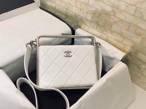 Neue klassische Handtasche der Dame 7A High-End-kundenspezifische Qualitätshandtasche Mode-Business Casual-Style Silber-Metall-Zubehör mit abnehmbarer langer sh