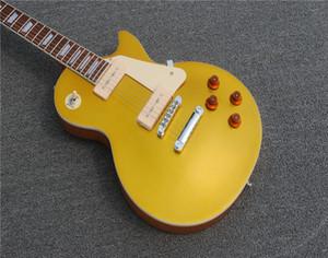 Ücretsiz Kargo Relic 1968 Goldtop 50th Yıldönümü Elektro Gitar One Piec Boyun Yaşlı Heavey Relic Elektro Gitar Relic Crack Çizgiler Kafaları