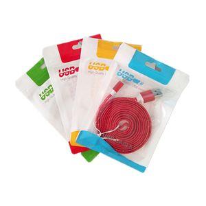 지퍼 플라스틱 소매 포장 가방 꽉 구멍 폴리 USB 케이블 OPP는 휴대 전화 케이스 벽 충전기 가방을 포장하는 포장