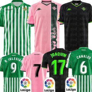 Thai Qualidade Real Betis Futebol Juanmi JOAQUIN CANALE C. TELLO CANALES A. BARRAGAN FEKIR camisa de futebol S-XXL