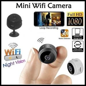 A9 WiFi cámara inalámbrica mini cámara HD 1080P de seguridad portátil Inicio encubierta niñera leva de movimiento interior activada Cámaras de visión nocturna