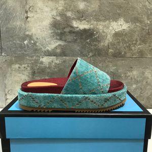 2020 Cartas diseñador de las mujeres sandalias de cuña verano señoras del alto talón de la plataforma de la sandalia del deslizador Slide Marca defiende flip-flop de los zapatos de lujo playa