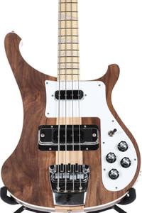 New 4003W Natural Walnut Baixo 4 cordas graves WALNUT corpo do vintage ric 4003 Guitarra baixa elétrica Neck Thru Corpo Um PC Neck corpo