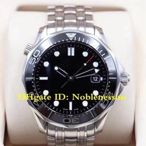 10 Art der heißen Männer passt Armbanduhr Top Qualität Mens Berufs 300M James Bond 007 mit schwarzem Zifferblatt Stahl Automatik-Uhr-Uhren