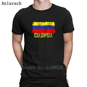 Colômbia Jerseys Futbols Soccers camiseta Verão Top personalizado Primavera Tendência T-shirt For Men masculino engraçado Plus Size Anlarach aptidão