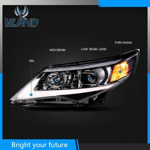 Car Head Lamp For Carmy Headlights 2012 2013 2014 Head Light Assembly with Yellow Turn Signal
