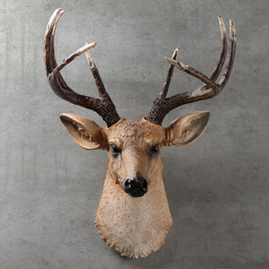 [MGT] American realistic deer head wall hanging animal head resin pendant home decoration store wall hanging, best gift T200703