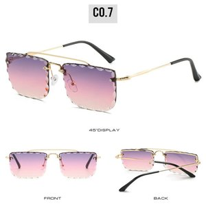 Double Beam Trimmed Square Sunglasses Retro Mens Metal Big Frame Pilot Glasses Double beam Goggle Transparent glasses Frame Clear glass IBK9