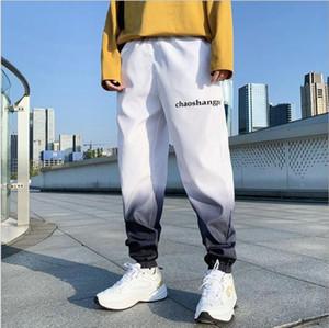 Мужские брюки Оригинальные дизайн Мужские уличные грузы моды хип-хоп уличная одежда панель эластичная талия повседневные пробежки Harajuku Trous
