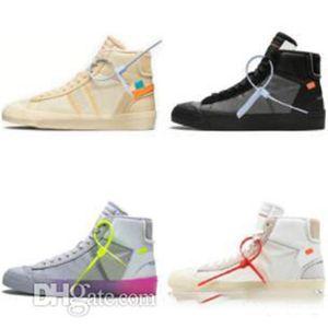 Nike Blazer x OFF-WHITE OW أزياء الساخنة عالية الجودة البرتقال الأسود الحلل MID Reepers قاتمة الاحذية أحذية كرة السلة الشريط Cavans THE TEN PRESTRO