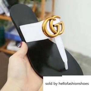 높은 품질의 가죽 편안한 비치 신발 버클 유행 발 클립 슬리퍼 금속은 도매 크기를 지원 : 36-41