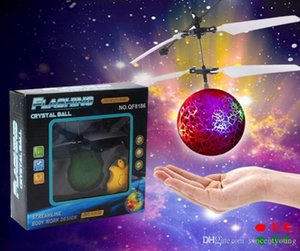 RC Helicopter Ball Toys Flying Induction LED Noctilucent Ball Quadcopter Drone Sensor Suspension Remote Control Aircraft for Kids Xmas Gift