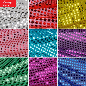 High Quality Sparkly Embrodiery Mesh Lace Sequin Fabric 1*1M Gold Silver fabrics For Dress Clothes Party Christmas Decoration