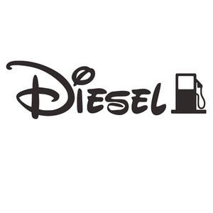 LIO indicador de tapón del depósito de combustible diesel solamente casquillo coche pegatina 12CM negro / plata CA-3012
