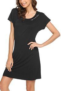 Zouvo Cotton Nightshirt Женская футболка с коротким рукавом с V-образным вырезом Ночная рубашка S-XXL