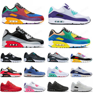 Nike Air max 90 shoes airmax 90 Triple nero 90 Uomo donna Scarpe da corsa Classic Giallo grano rosso anni '90 Sport Trainer Air Cushion Superficie traspirante Sneakers 36-45