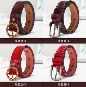 Design de marca design simples e generoso da moda de alta qualidade Cinto de couro de gado Feminino, Cinto de fivela de marca agulha