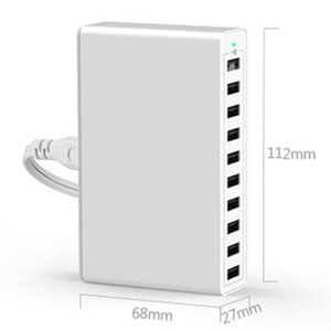 10 Port Multi Usb Charger Hub 50W 10A Fast Usb Wall Charger Usb Charging Station Base Universal Mobile Phone Power Charging New
