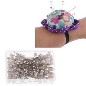 Wrist Wearable Cuscino Pin e 1 scatola (100pcs) Bead Head Pins, fai da te Accessori di cucito