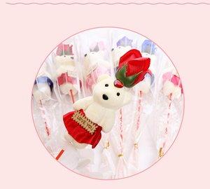 Подарок на день Святого Валентина Мыльная роза для подружки Многоцветный Дополнительный букет из мыла Одиночный букет только 10 из искусственного цветка