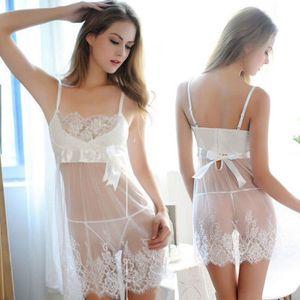 Sexy Frauen-Dame-Wäsche Sleepwear-Spitze Teddy Frauen-G-String-Unterwäsche Babydoll Nachtwäsche Damen Kleidung 2pcs Outfits