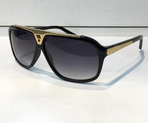 Hot Sell fashion Luxury evidence sunglasses retro vintage men Z0350W  shiny gold frame laser logo women top quality with package