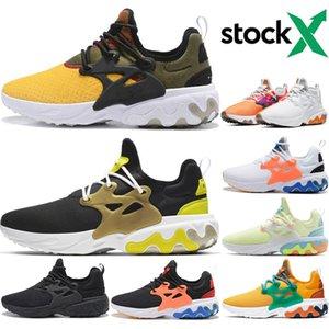 Hot Sale React Presto Mens Women Running Shoes Triple Black DHARMA Brutal Honey BR QS Black White Breakfast men Prestos Sports Sneakers