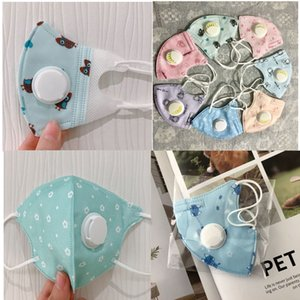 Kids Cartoon Breathable Face Masks 5Layers Thicken Face Mask with Breather Valve PM2.5 Anti Dust Mask For Children