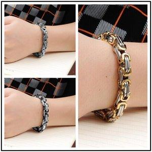 men Byzantium bracelet stainless steel men's bracelet Cuba chian on hand charm male accessories simple manual fasion jewellery