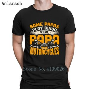 Real Papas Ride Motorcycles Bike Father's Day Gift T Shirt Fun Spring Leisure Black Shirt Male Plus Size High Quality Custom