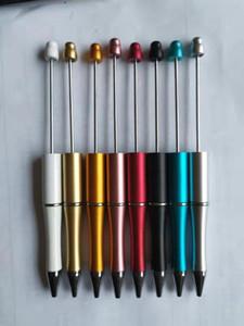 Neuheit hot a Perlen Werbekinderspiel Weihnachten Neujahr Geschenke Kreative DIY billiges Plastik Beadable Stifte Auffädeln Kugelschreiber Kugelschreiber