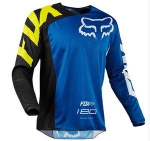 t ile uzun kollu motosiklet takım yarış yokuş aşağı formayı sürme FOX yeni yarış takım elbise hız düşüşü elbise polyester çabuk kuruyan tilki TLD bisiklet