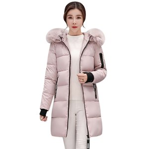 Women Coat Long Paragraph Thick Padded Jacket Korean Students Slim Large Size Down Cotton Autumn And Winter Tide High Quality